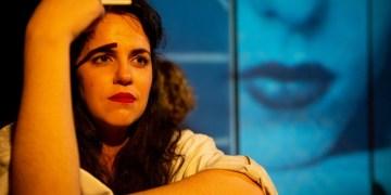 """Marilene Grama, na interpretação de """"Minhas Queridas"""", em homenagem a Clarice Lispector."""