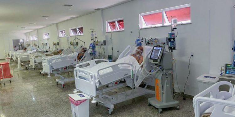 Ocupação de 73% de leitos a pacientes com  covid-19. Foto: Guilherme Cardoso/IBGH.