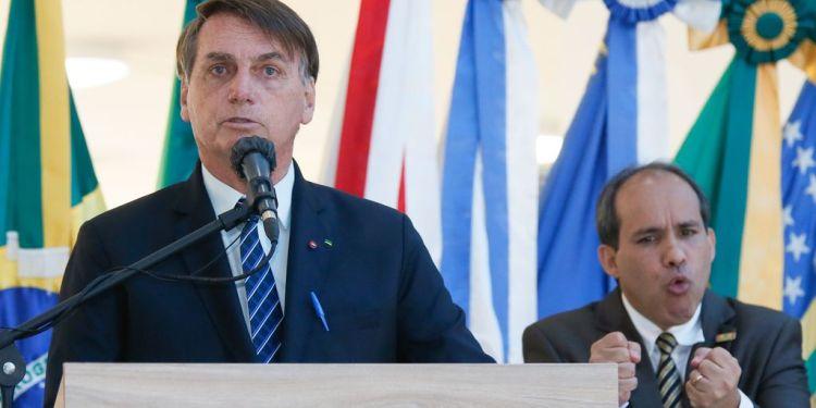 Jair Bolsonaro, presidente do Brasil, em evento (foto Isac Nóbrega, PR)