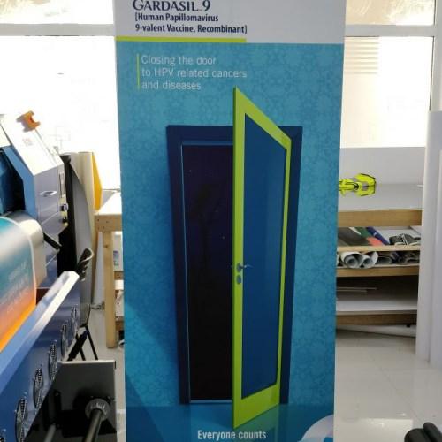 Rollup for Gardsil9 Exhibition in Dubai