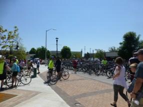 NWA Razorback Regional Greenway launch day bikes