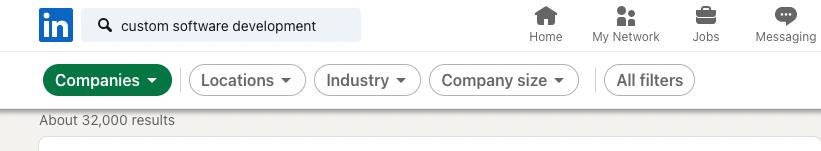 Custom Software Development – Search on LinkedIn