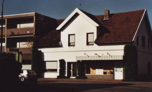 """-31- Geschäftshaus Gröne, links daneben schon die Reinigung """"Hanseat"""""""
