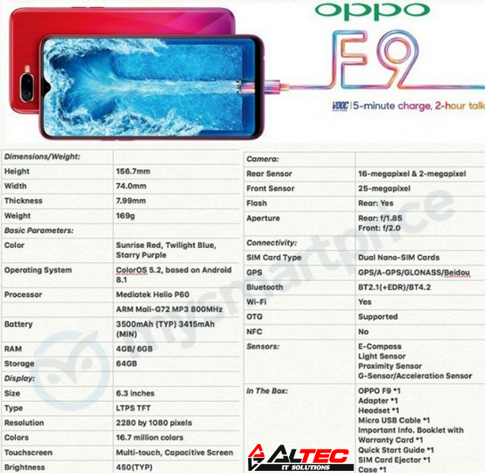 Oppo F9 Pro Sri Lanka Launch Set for 4th September 2018