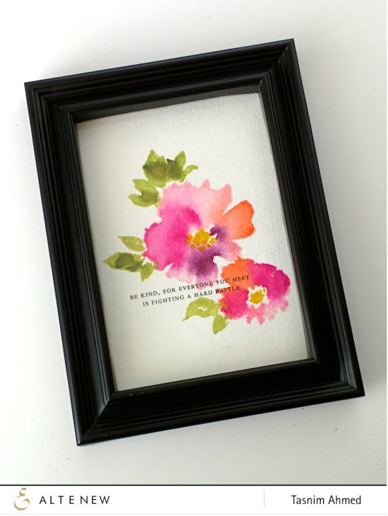 Watercolor Wonders frame art