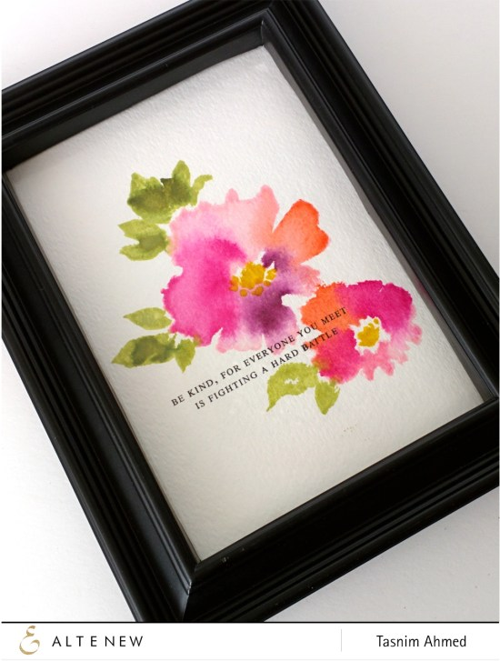 Watercolor Wonders frame art -