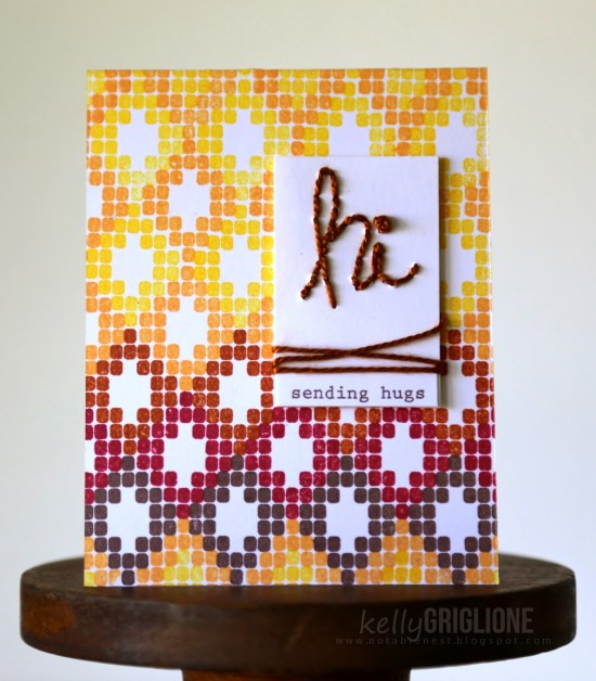 Altenew Modern Beadwork Stitched Sentiment Card