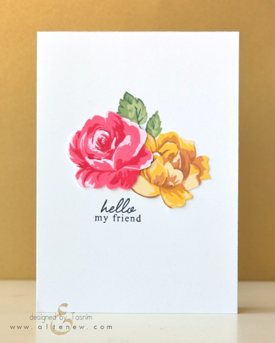 Vintage Flowers-simple stamped