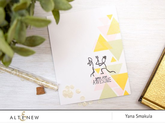 Yana Smakula | Altenew - You Are Awesome Card