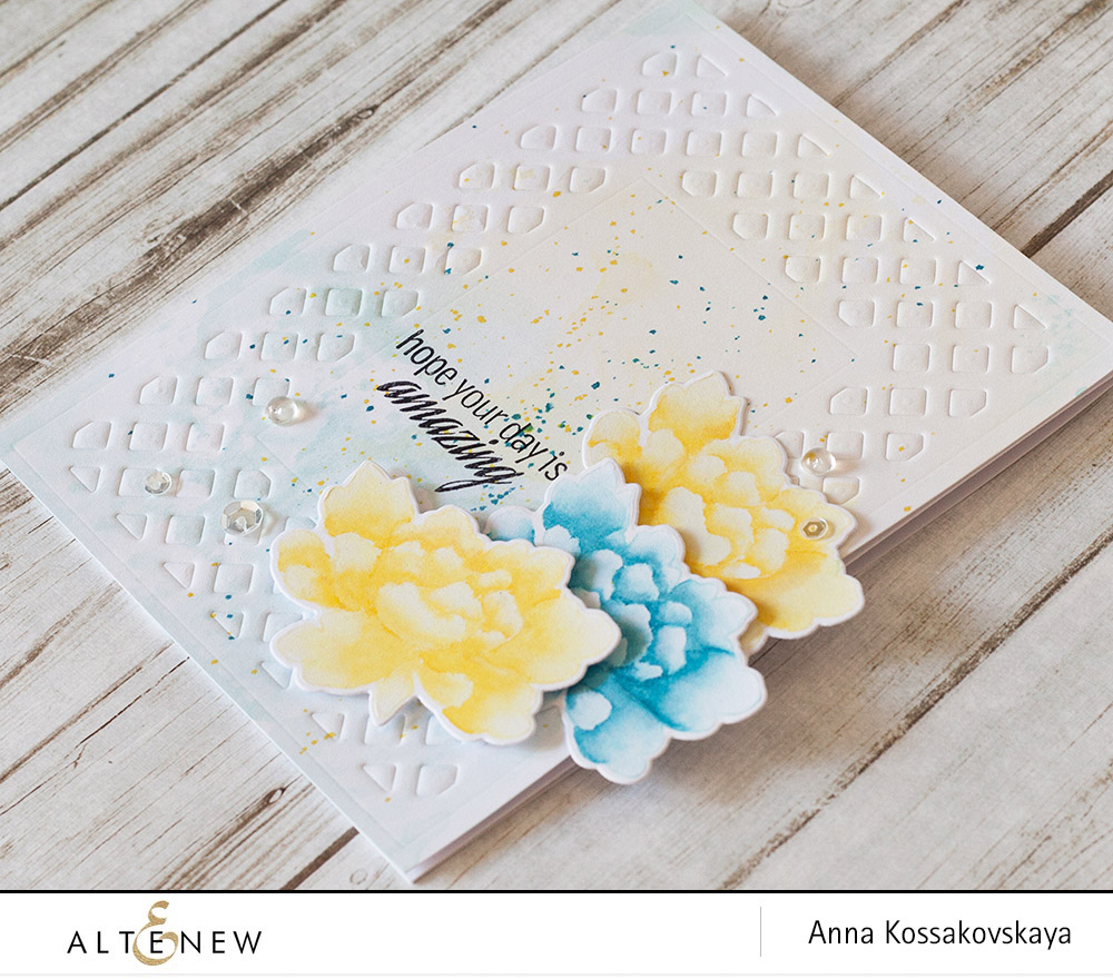 Stretch your Crisp Inks @akossakovskaya @altenew #cardmaking #altenew