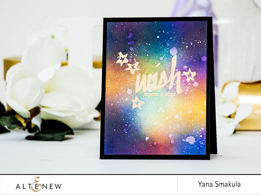 Video: Galaxy Sky Background with Altenew Inks