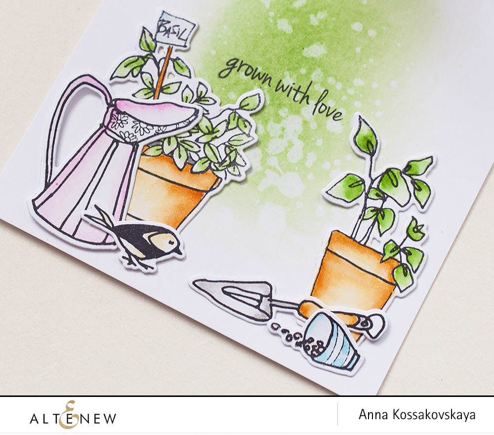 Garden Grow tunnel card @akossakovskaya @altenew #cardmaking #altenew