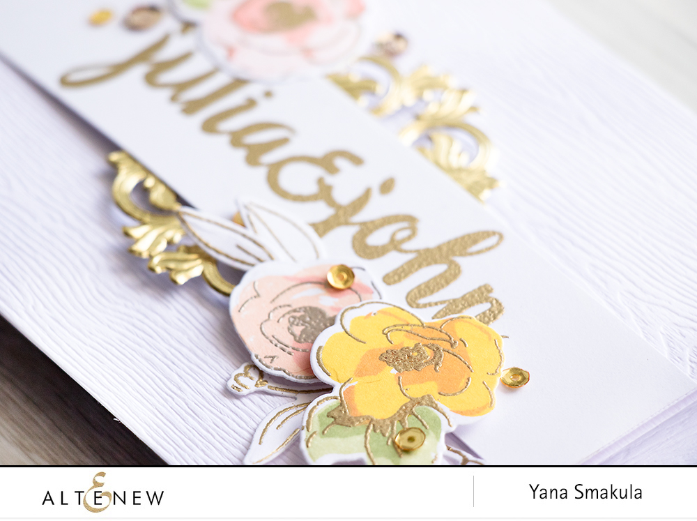 Altenew - Handmade Wedding Save The Date & Invitation Ideas using stamps and inks