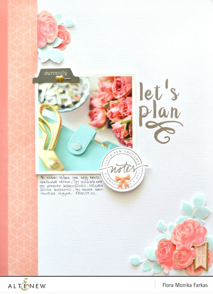 vintage roses layout