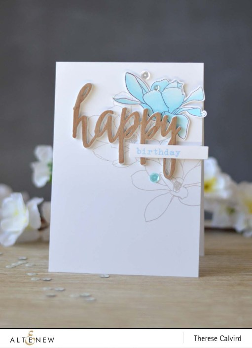 Lostinpaper - Altenew - Magnolias for Her - Birthday Greetings - Happy Die - Chameleon (video)