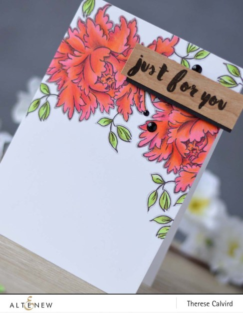 Lostinpaper - Altenew - Majestic Bloom - Painted Greetings card (video) copy