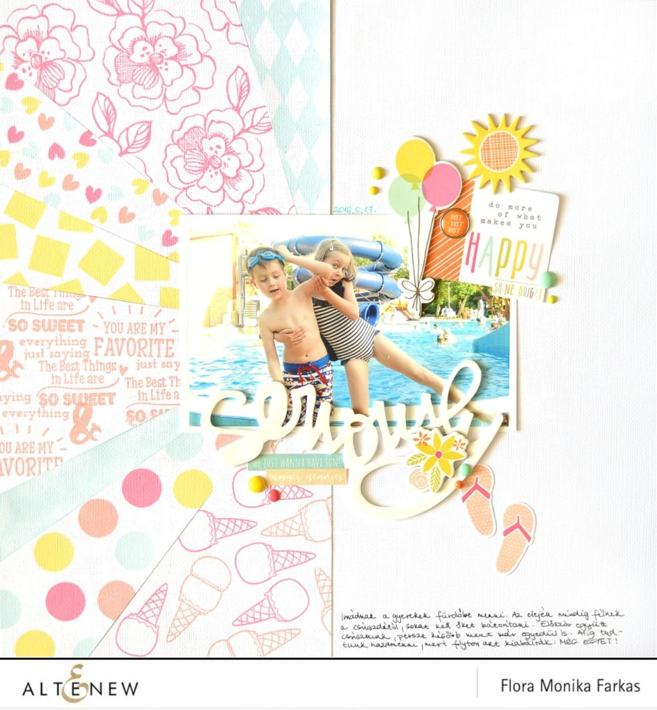 altenew scrapbook layout by @floramfarkas