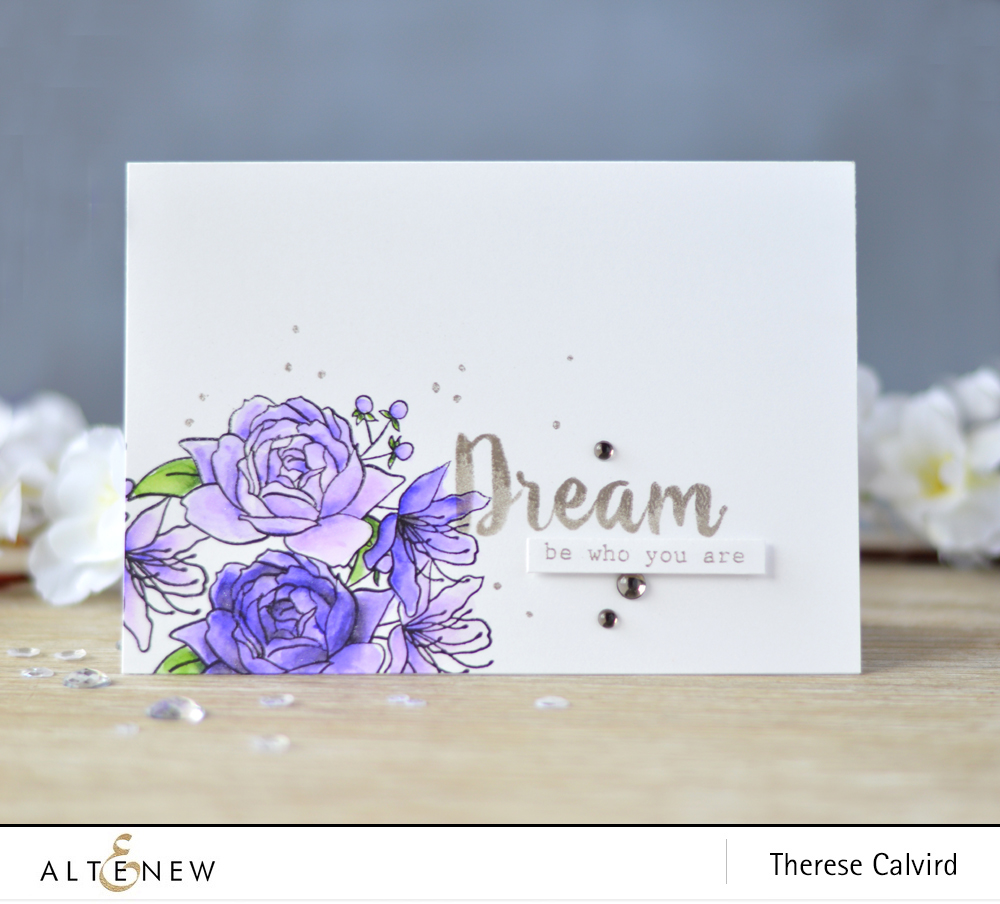 Lostinpaper - Altenew - Floral Frame - Callipgraphy Alpha - Goals (card video) 2 copy