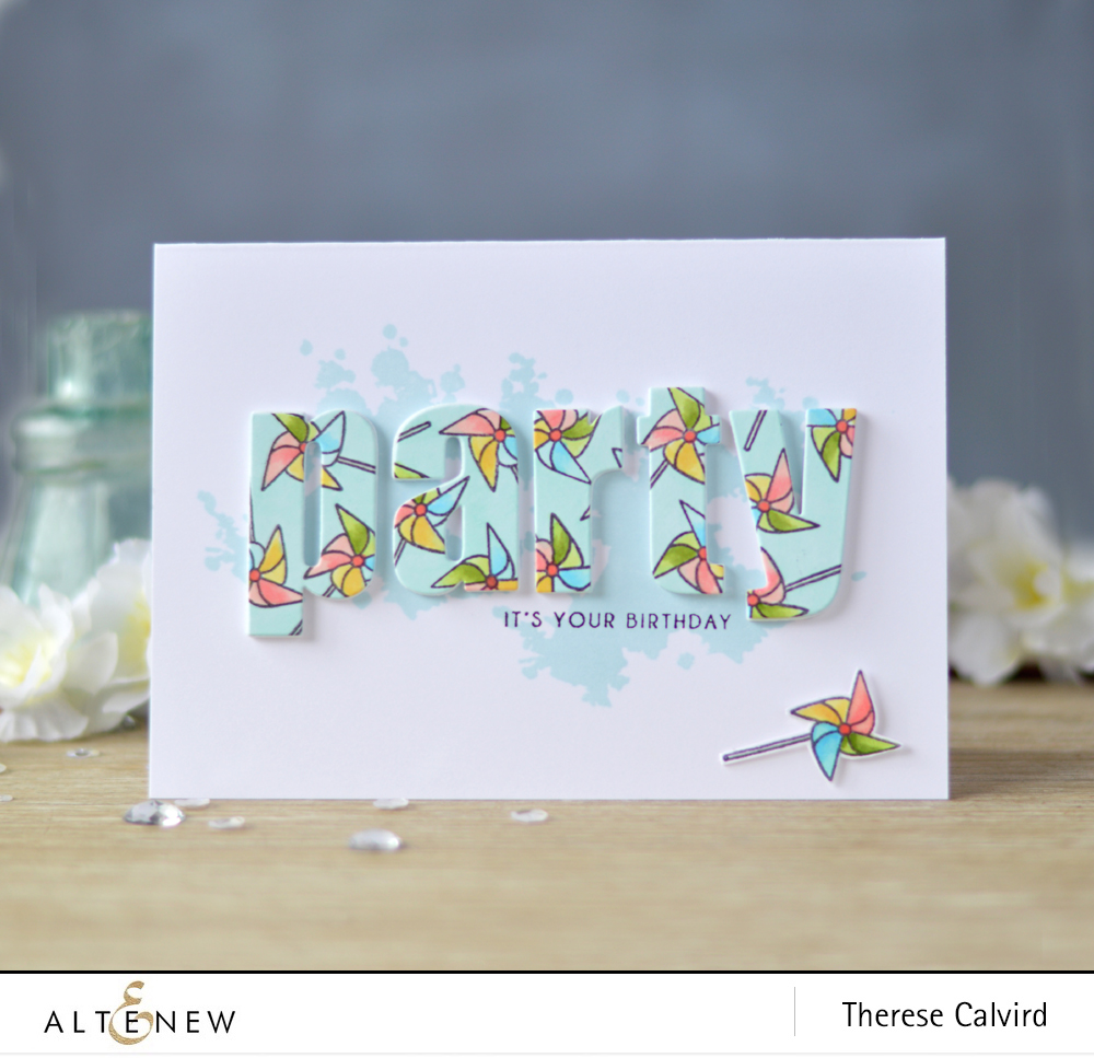 Lostinpaper - Altenew - Be Strong - A Splash of Color - Celebrate - Bold Alphabet (card) 1 copy