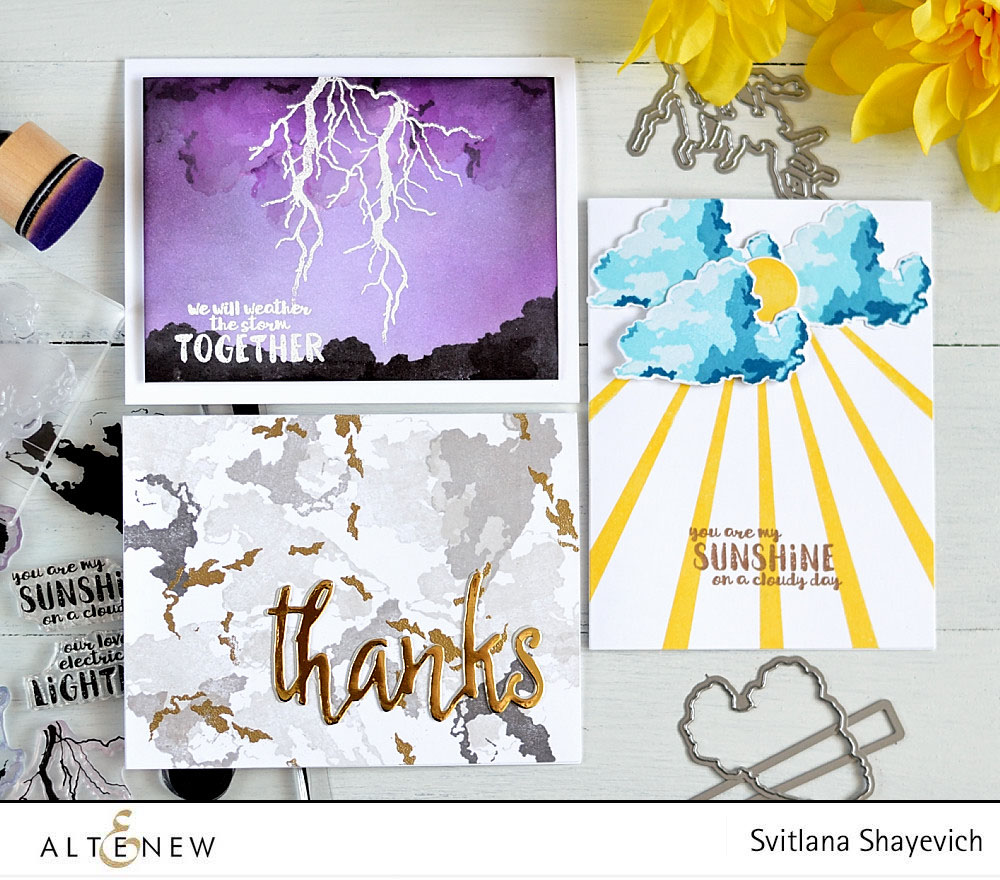@altenew Rain or Shine. Cards by @s_shayevich