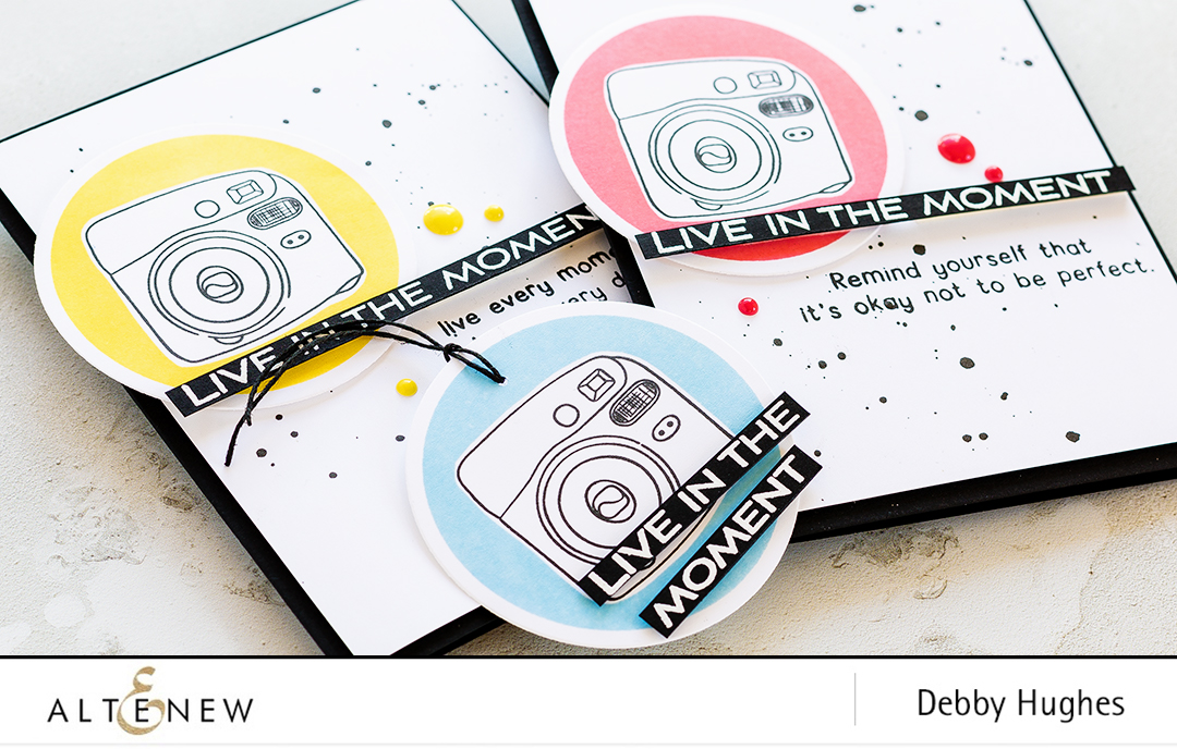 Live In The Moment Card Set by Debby Hughes inspired by the Instax Mini 8 camera. Find out more about this project by clicking on the following link: http://altenewblog.com/2017/04/27/live-in-the-moment-card-set-inspired-by-instax-mini-8/