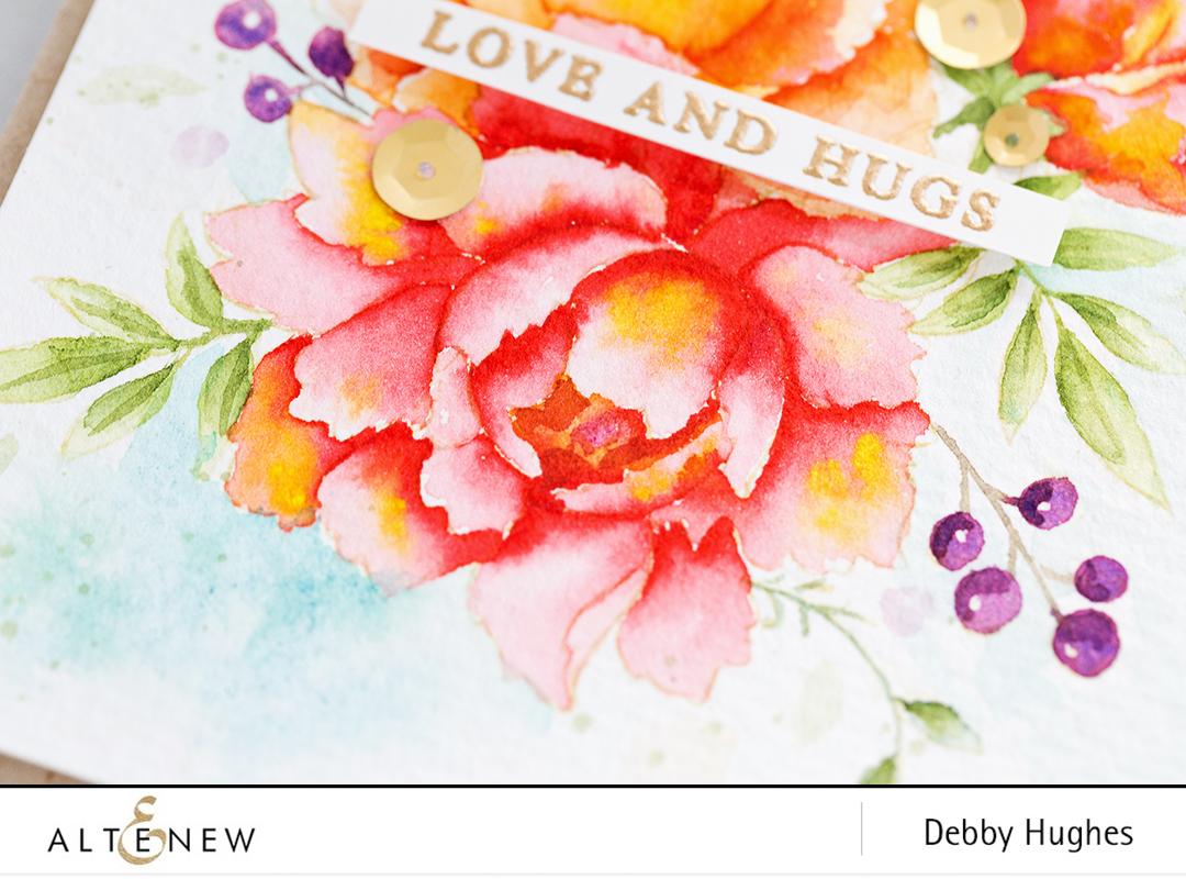 Watercoloured peonies by Debby Hughes. Find out more here: http://altenewblog.com/2017/11/20/watercoloured-peonies/