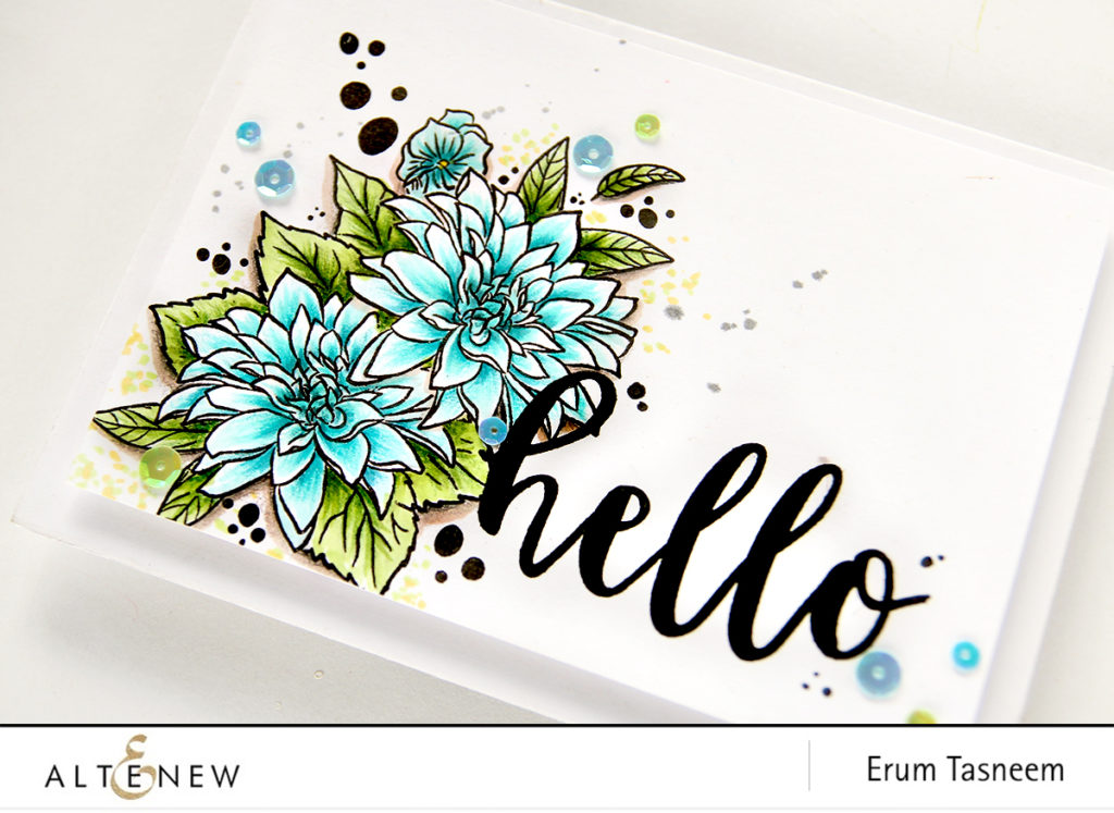 Altenew Blooming Bouquet Stamp Set coloured with Artist Markers Set A | Erum Tasneem | @pr0digy0 | @altenew