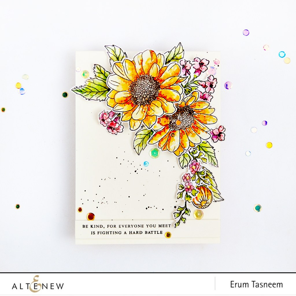Altenew Spring Daisy | Beautiful Day | Sentiments and Quotes Stamp Sets | Erum Tasneem | @pr0digy0 | @altenew