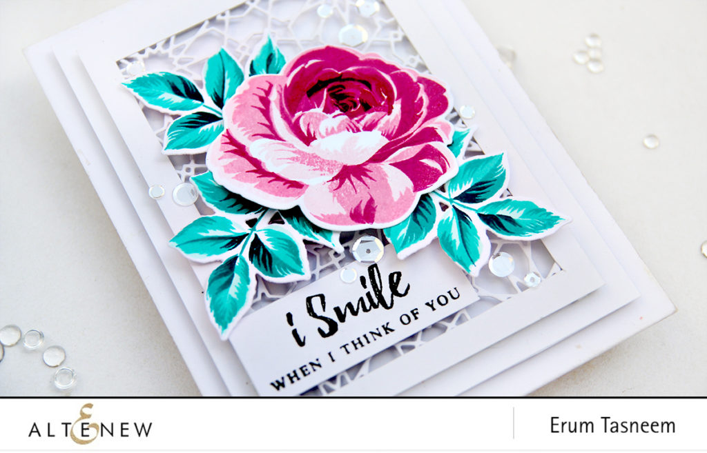 Altenew Build-A-Flower Rose and Dodec Cover Die | Erum Tasneem | @pr0digy0 | @altenew