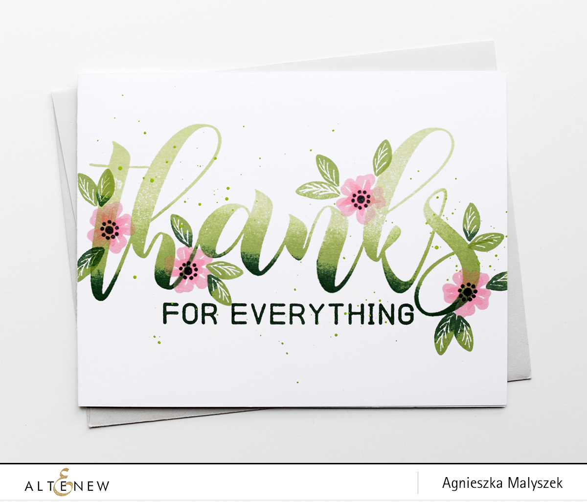 Bold Thank You Card With Mega Greetings Stamp Set Altenew Blog