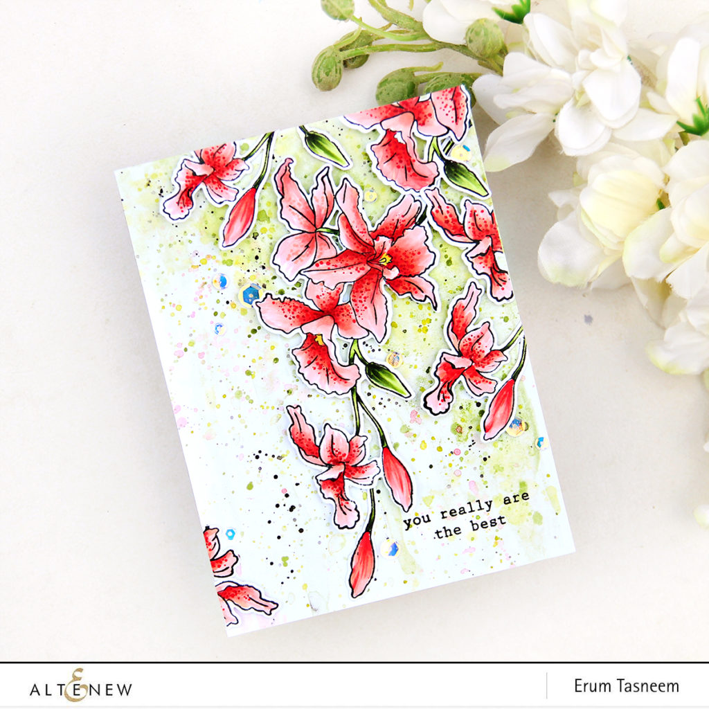 Altenew Build-A-Flower: Cattleya Stamp Set | Erum Tasneem | @pr0digy0