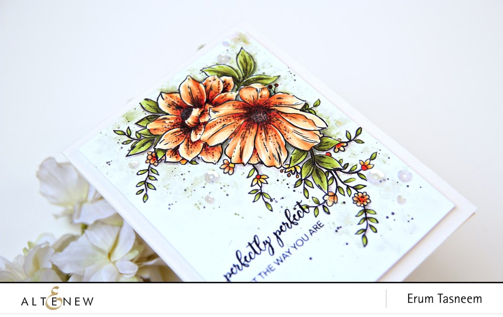 Creative Coloring With Erum Perfectly Perfect Floral Vine Altenew