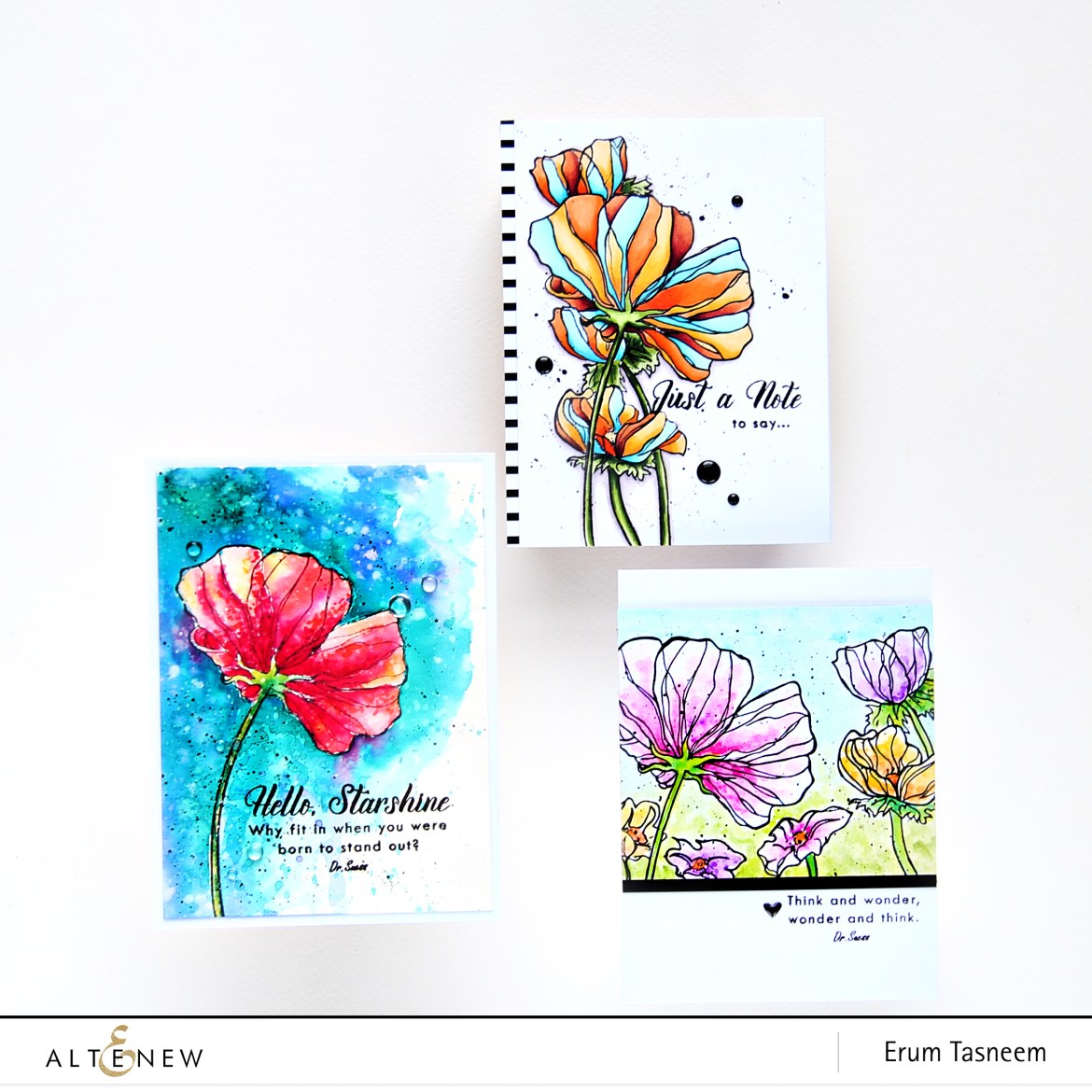 Altenew Wonderland Stamp Set | Erum Tasneem | @pr0digy0