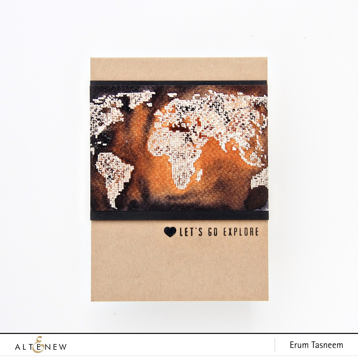 Altenew World Map Stamp Set | Watercolor Brush Markers | Erum Tasneem | @pr0digy0
