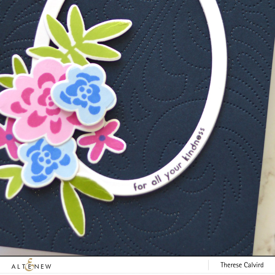 Altenew - Dotted Swirls Debossing Cover Die - Bold Bunch - Take 2 with Therese (card video) 1 copy