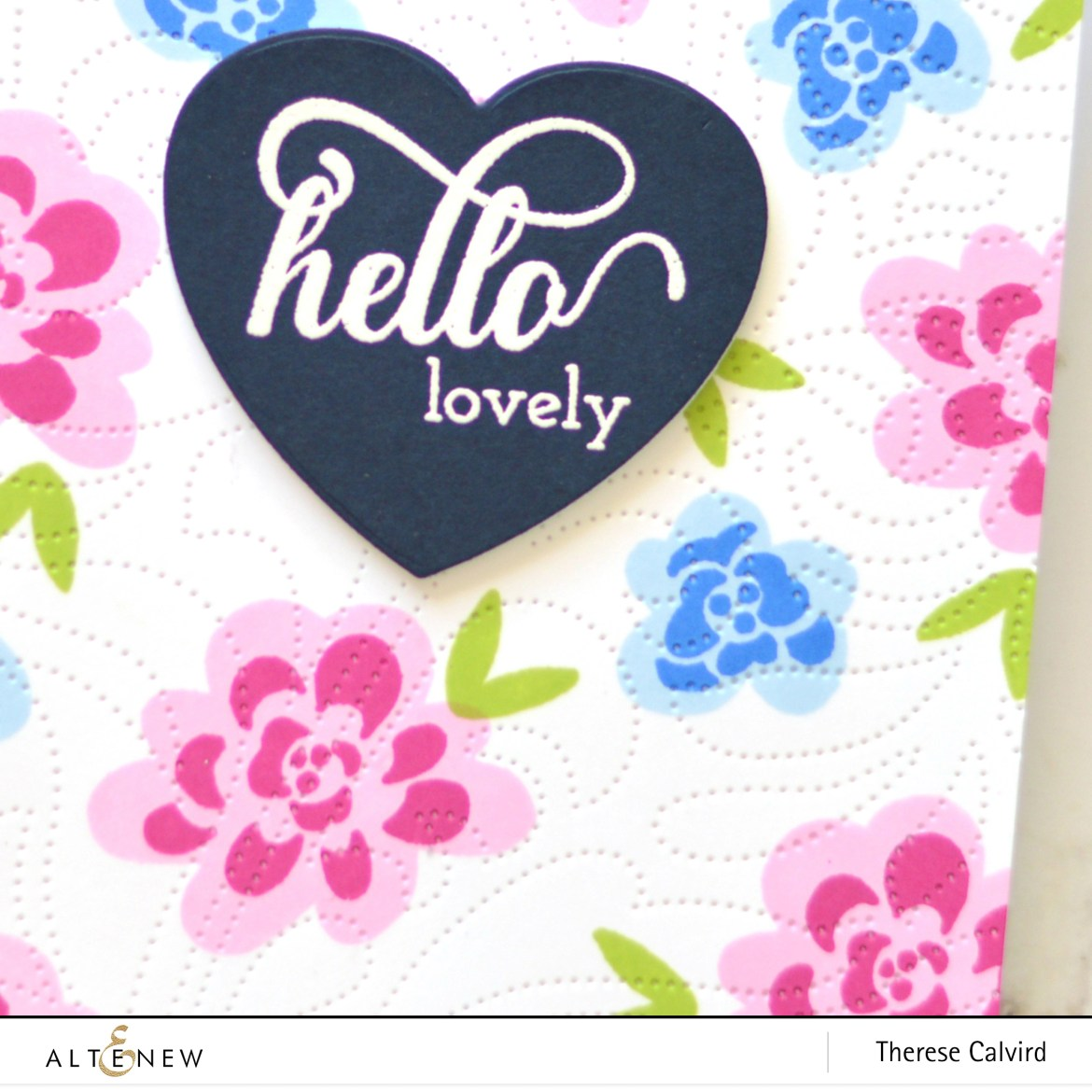 Altenew - Dotted Swirls Debossing Cover Die - Bold Bunch - Take 2 with Therese (card video) 4 copy