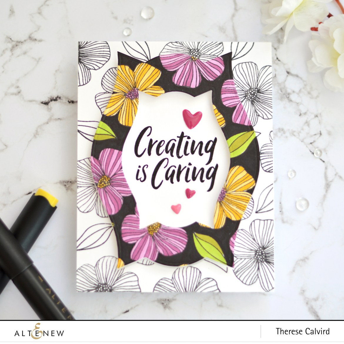 Altenew - Charming Doodles - Take 2 With Therese (card video) 1 copy