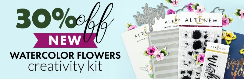 Get 30% OFF Watercolor Flowers Creativity Kit