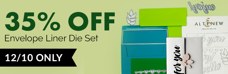 35% OFF on the Envelope Liner Die Set