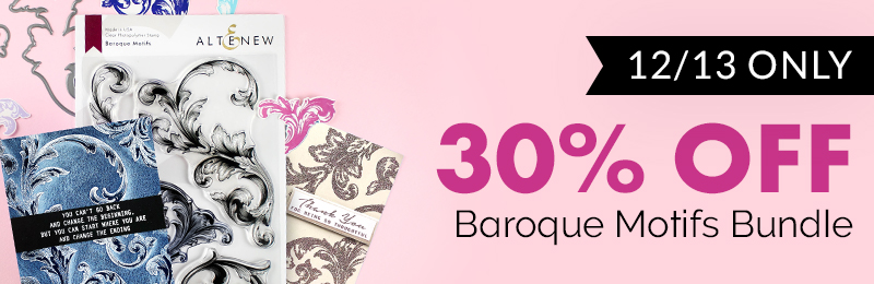 30% OFF on the Baroque Motifs Stamp & Die Bundle