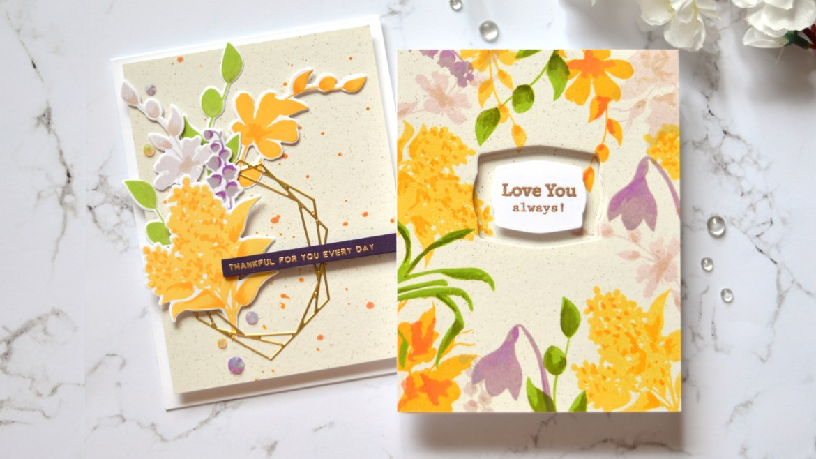 Altenew - Vase Fillers - Crystal Frames - Take 2 With Therese (card video) 2 copy