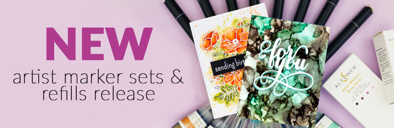 new artist markers & refill sets