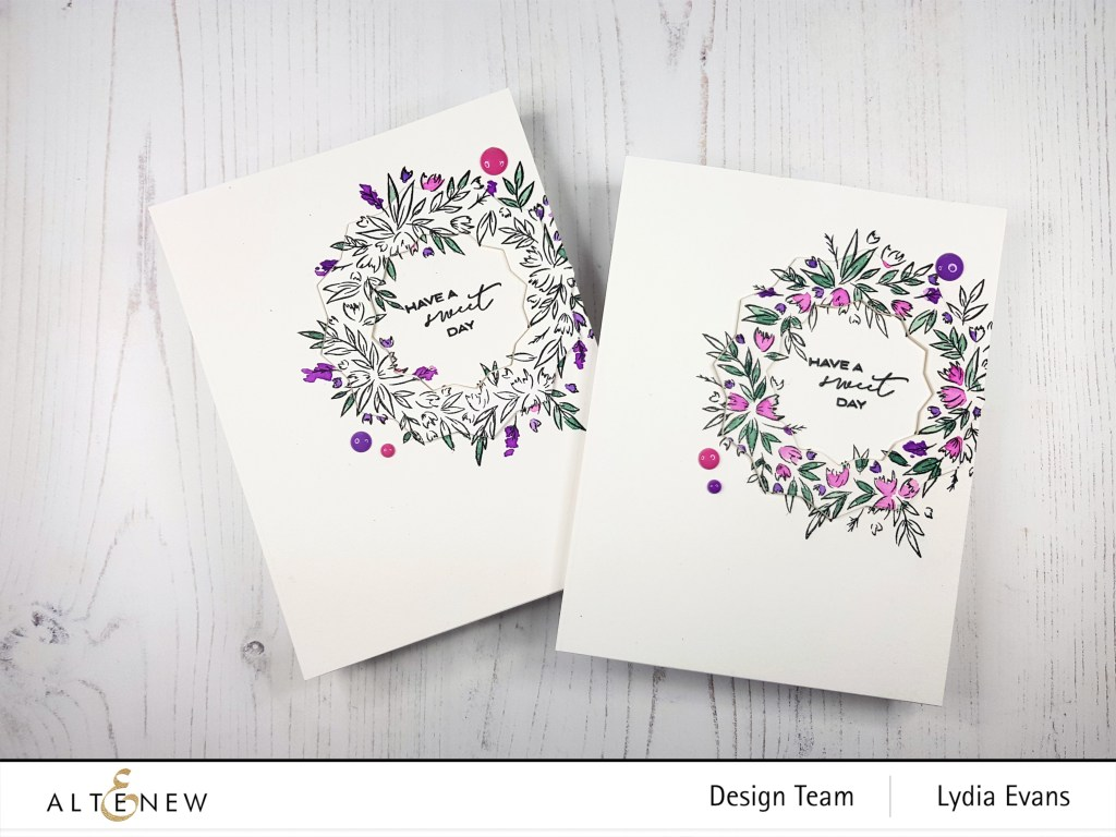 floral handmade cards - how to add dimension with nesting dies tutorial