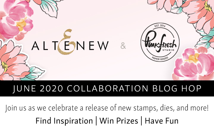 Release Banner for Altenew and Pinkfresh Studio collaboration blog hop