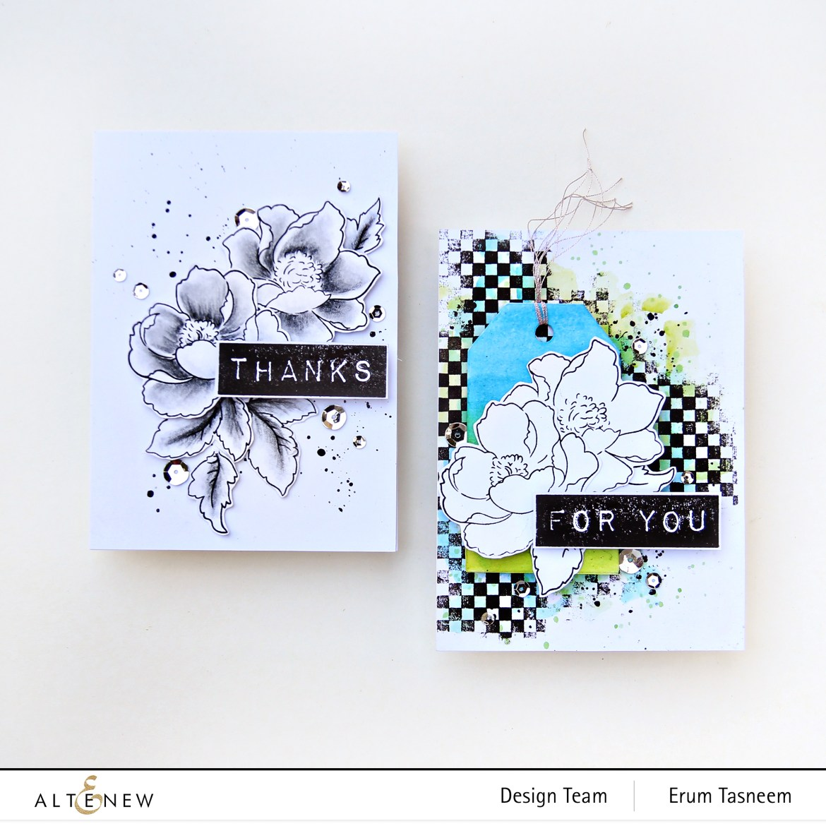Card making tutorial using Altenew Nature Blossoms Stamp Set | Erum Tasneem | @pr0digy0