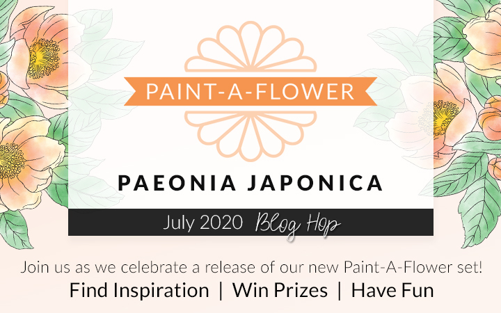 Altenew Paint-A-Flower: Paeonia Japonica Release Banner - Clear Floral Outline Stamp Set for Paper Crafting, Card Making
