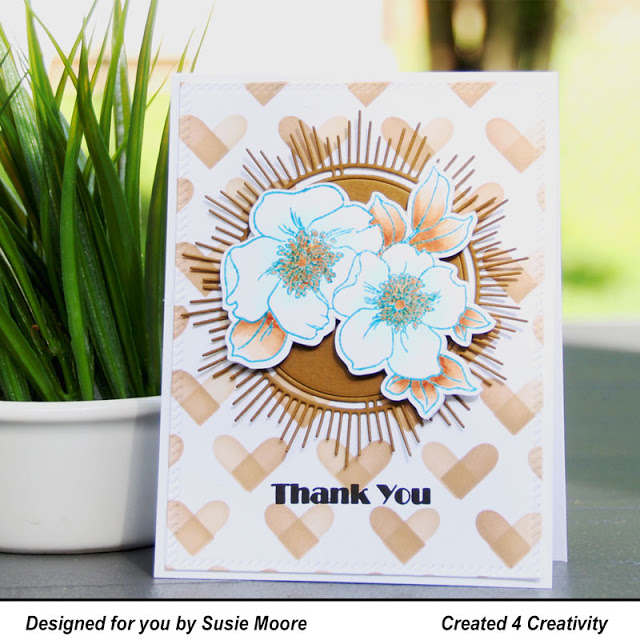 Floral Card Using Altenew Clear Stamps for June Inspiration Challenge