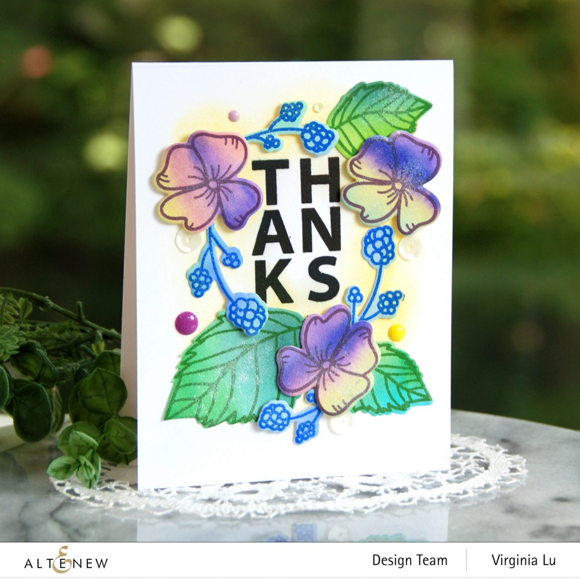 10082020-Hello Hydrangea Stamp & Die Bundle -Autumn Festival Watercolor Brush Markers