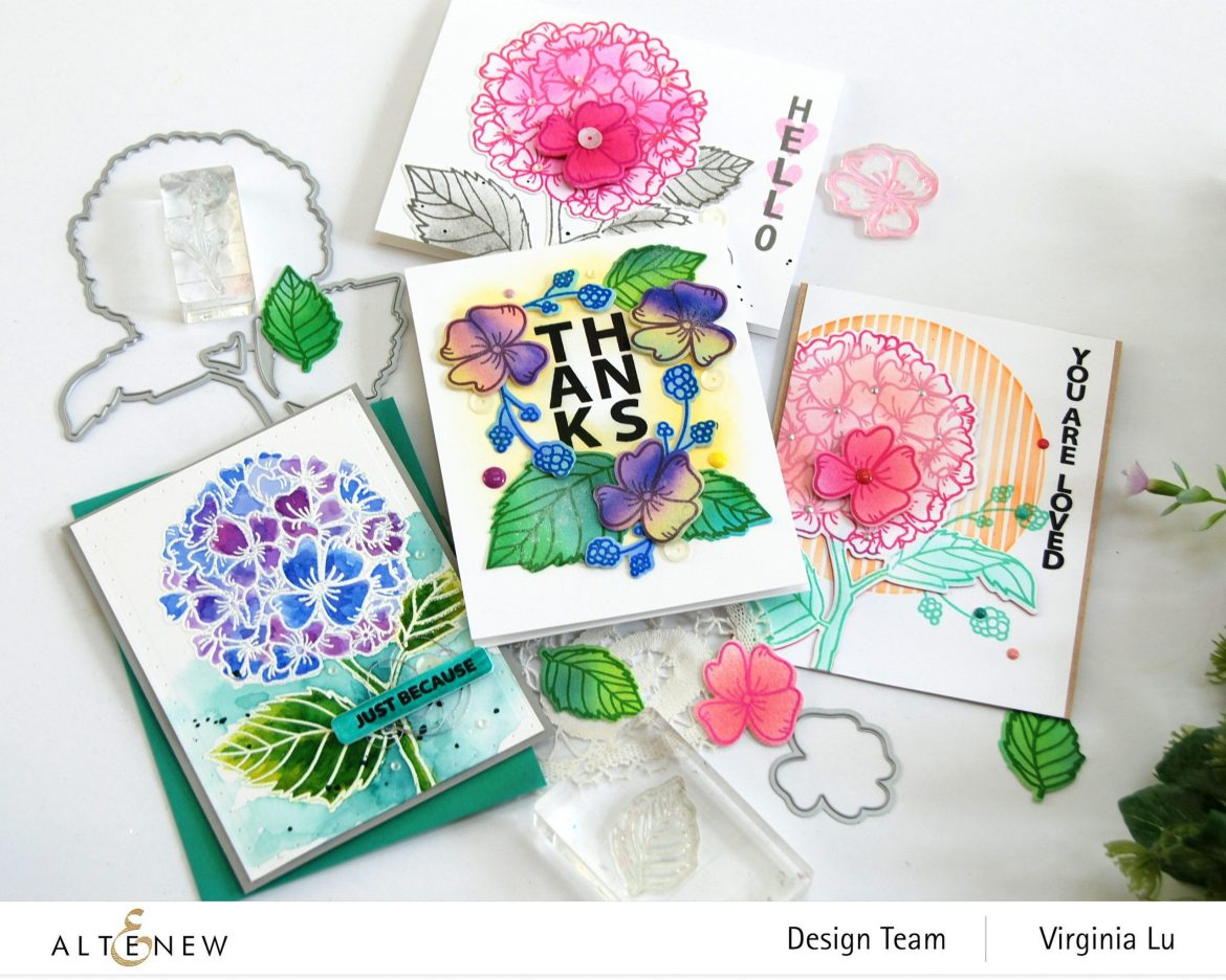 10082020-Hello Hydrangea Stamp & Die Bundle -Autumn Festival Watercolor Brush Markers -004