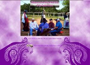Screenshot of Caddo Nation website circa 2007